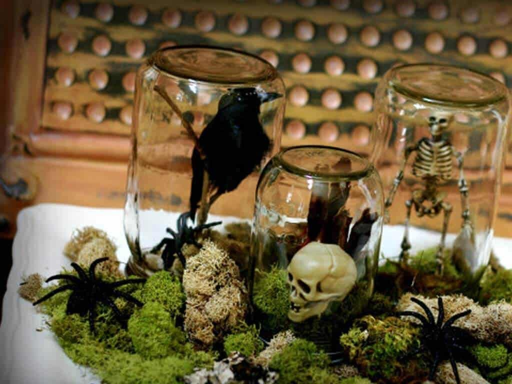 Halloween Mason Jar Terrariums