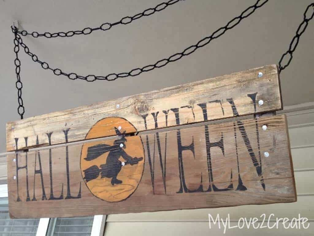 Rustic Halloween Sign