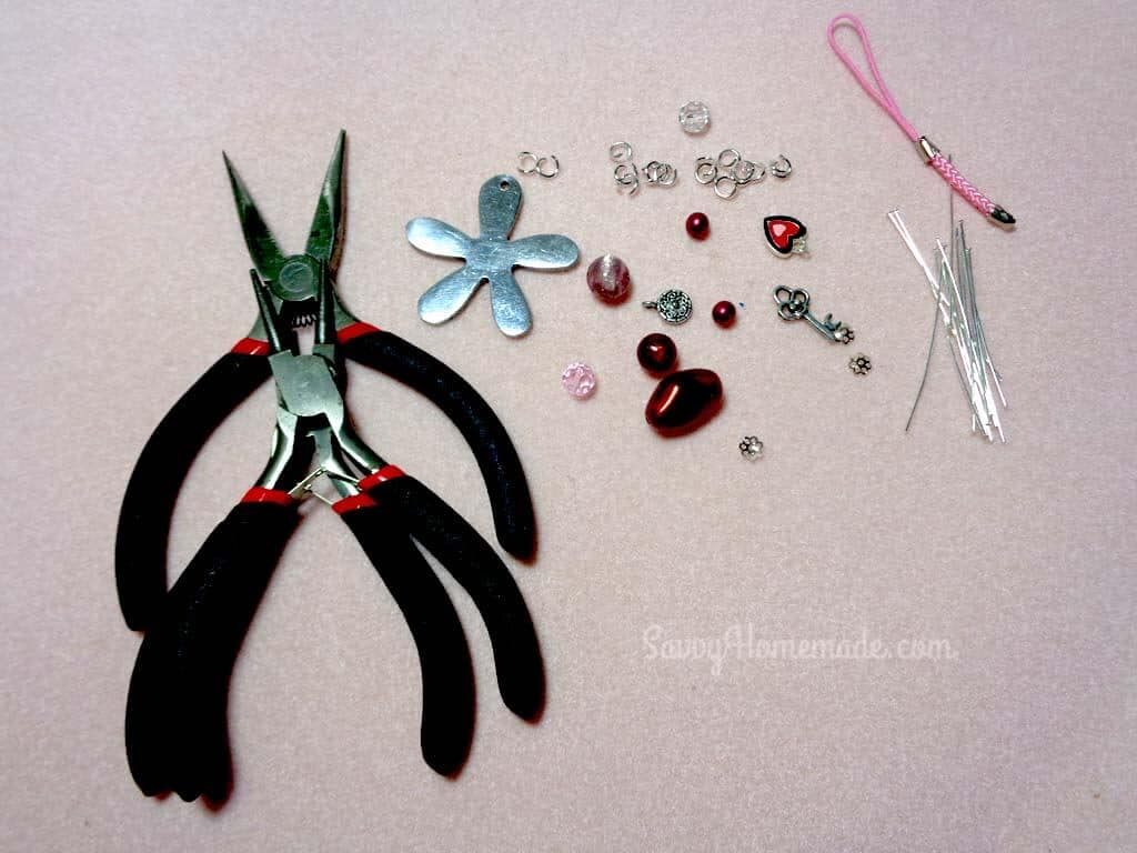 what you need to make beaded keychain