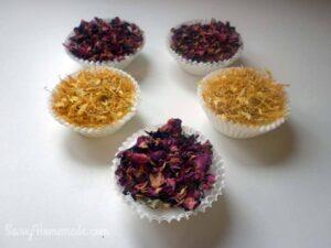 flower petal cupcake soaps