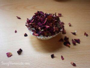 flower petal cupcake soap