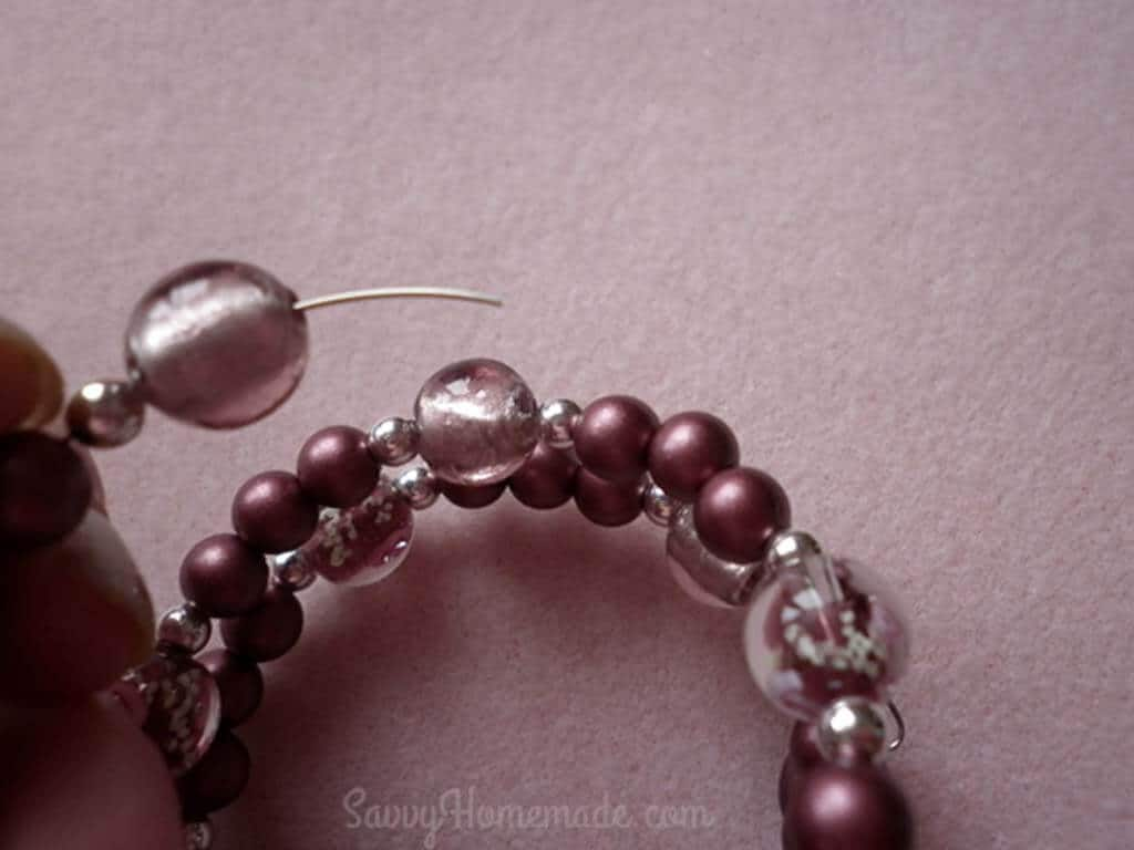 Memory wire bracelet DIY Part 3b