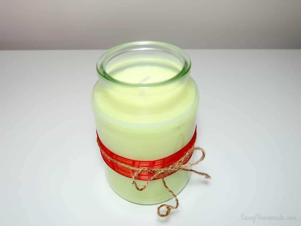adorn your candles with beautiful ribbon, labels, tags and other gorgeous decorations