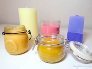 diy scented candles made at home