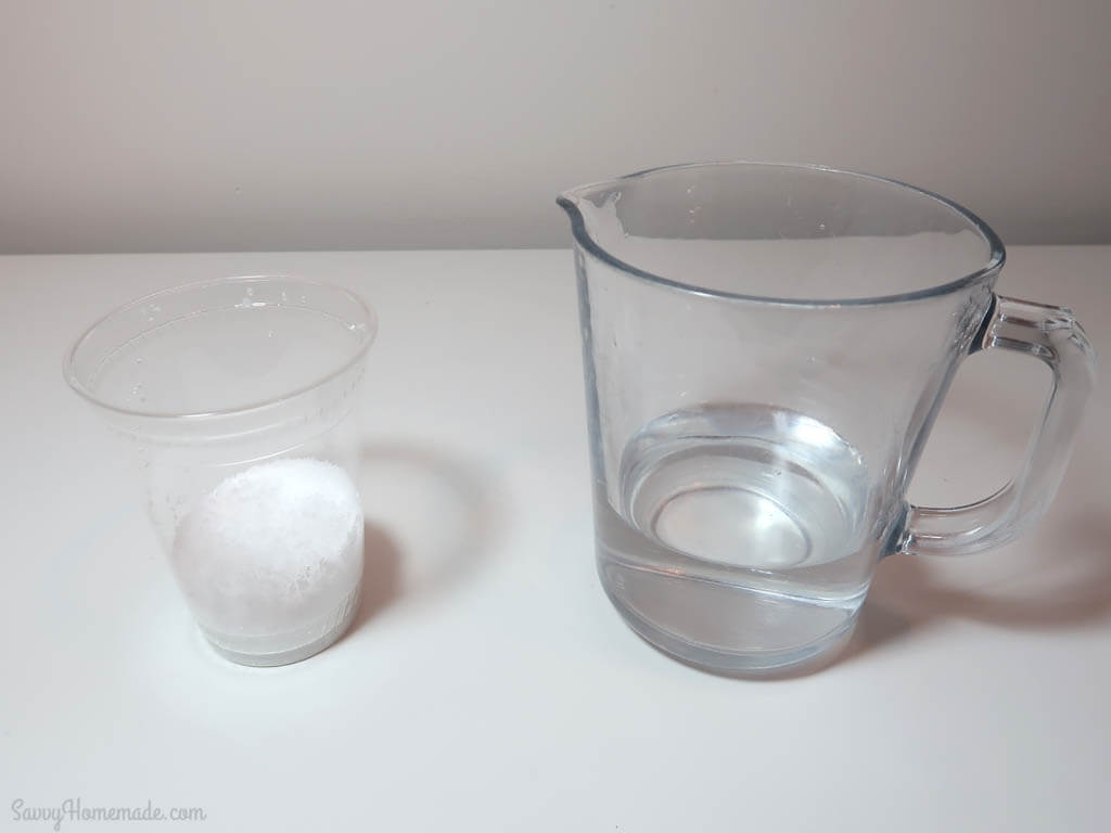 combine your lye and water and mix gently so not to spill or splash