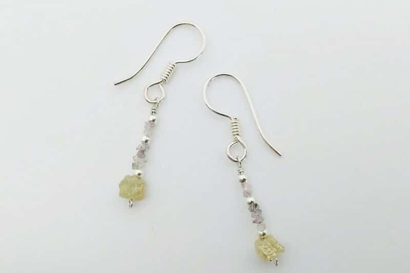 lovely diy diamond earrings