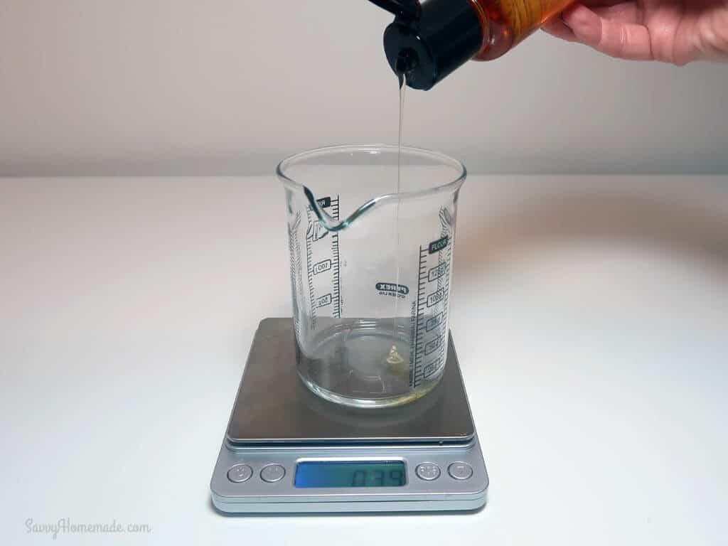 Add your vitamin E oil