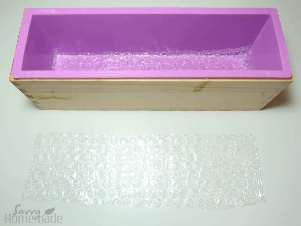 how to make honey comb soap a: Prepare your mold ahead of time to make thing easier later on.