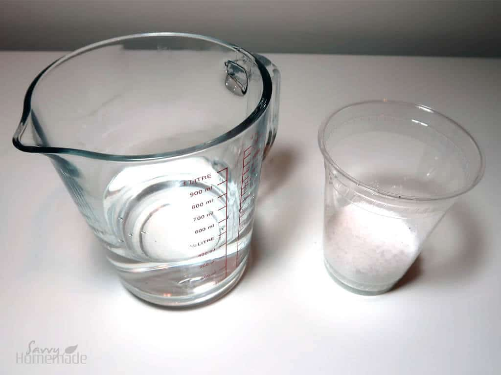 water and sodium hydroxide