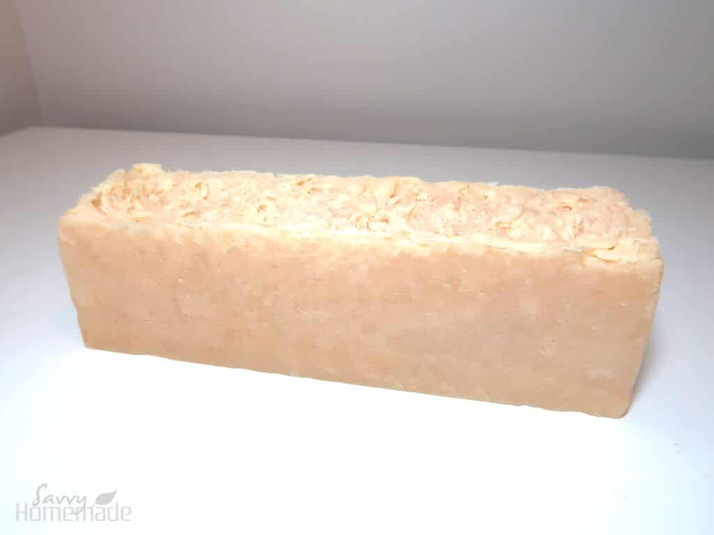 You'll want to leave your soap for 24 hours to harden up in the mold. After this, remove it and leave for a couple more days, which should be long enough for the soap to dry out a bit.