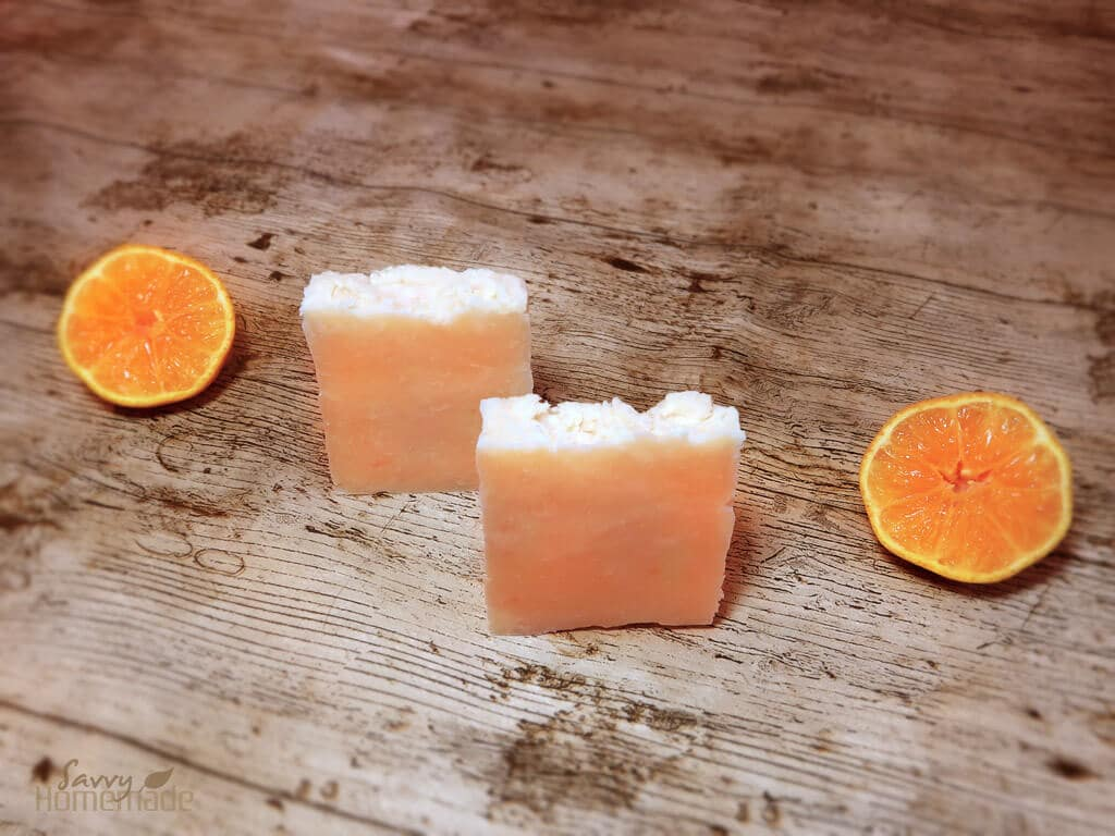 sweet orange hot process soap