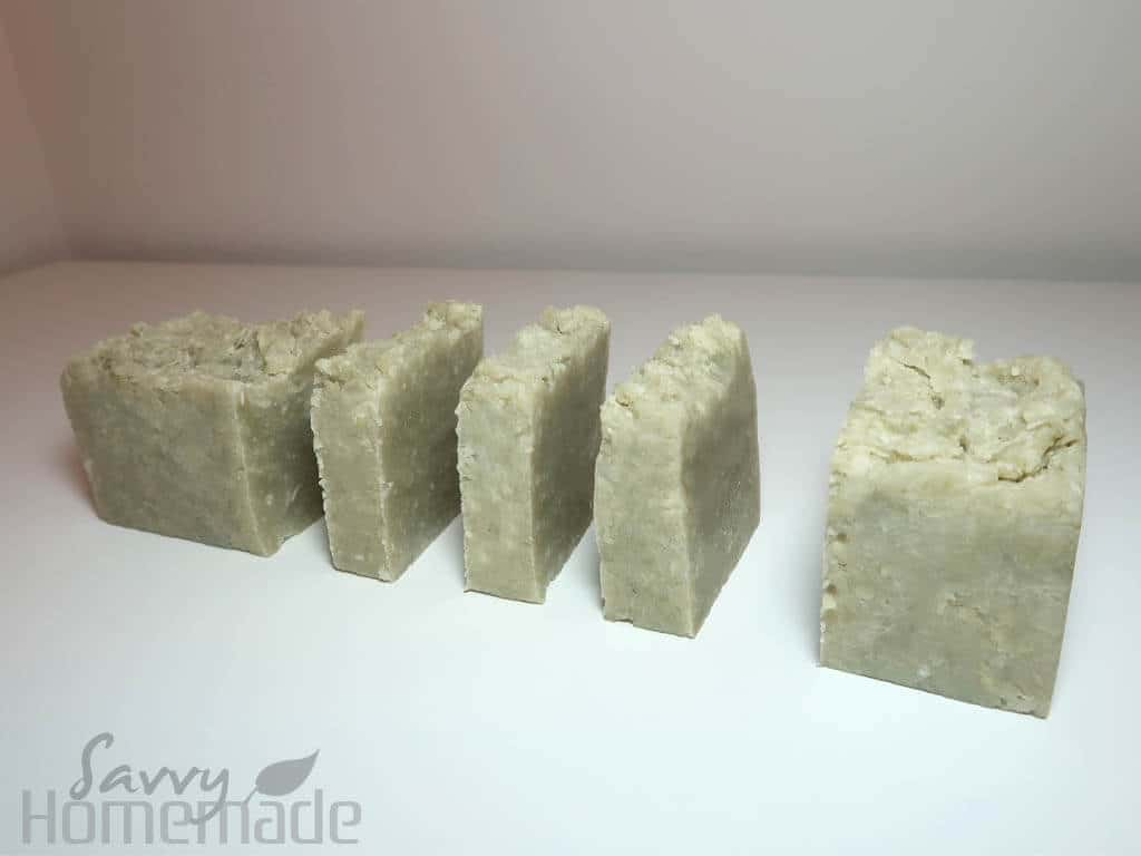 Leave your soap overnight in the mold before your remove and cut it. Leave for a few days to dry before using.