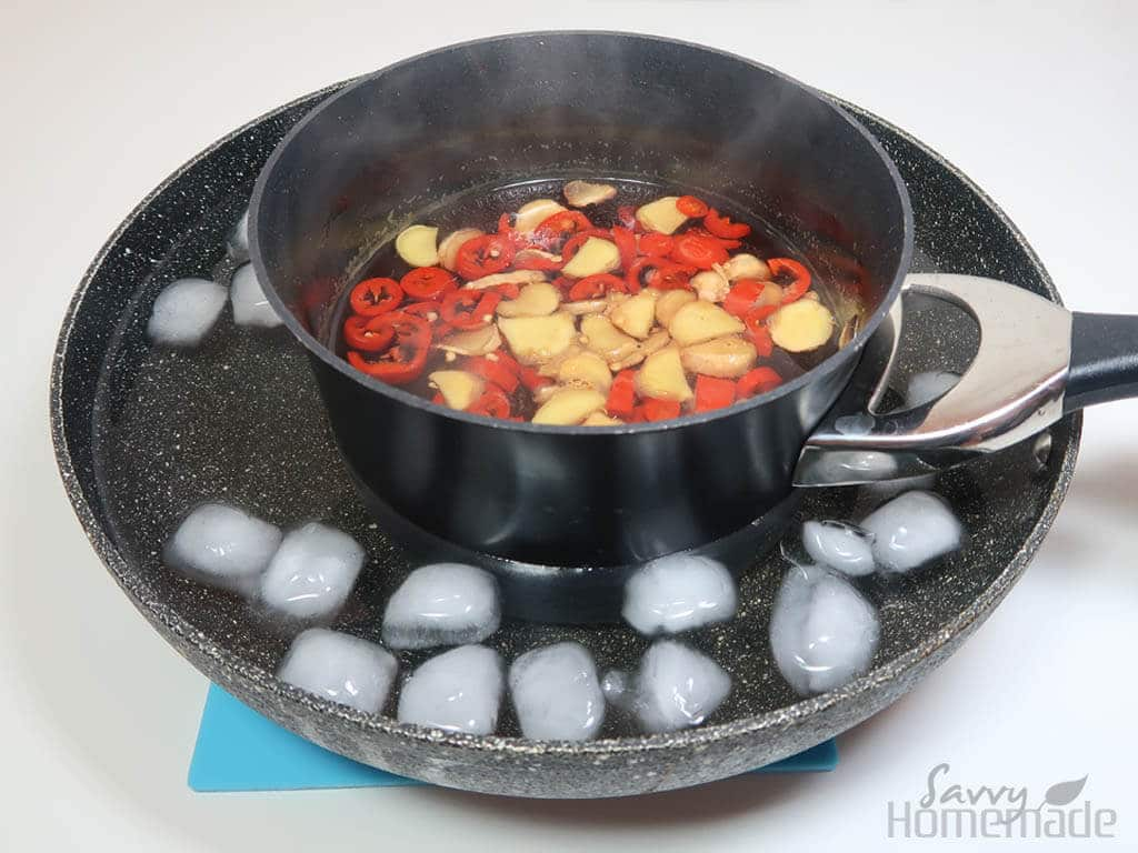 My best flu remedy k: simmer for 5 minutes and then pop into an ice bath to cool