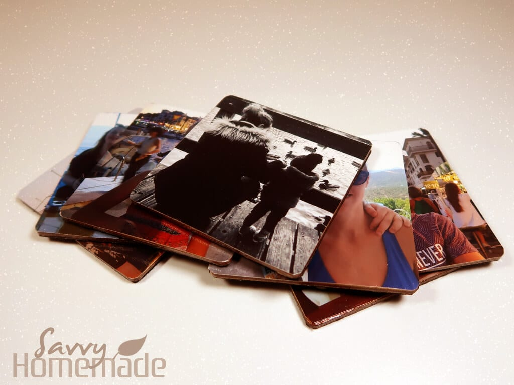 Homemade coasters using your own pictures!