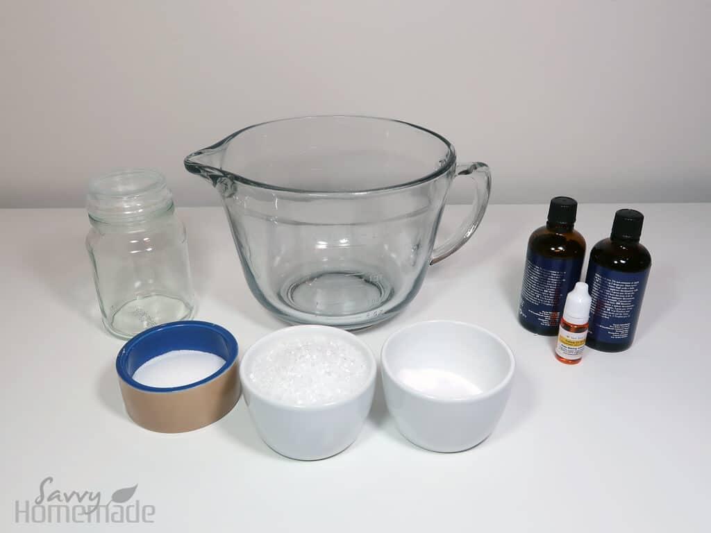Supplies for diy bath salts