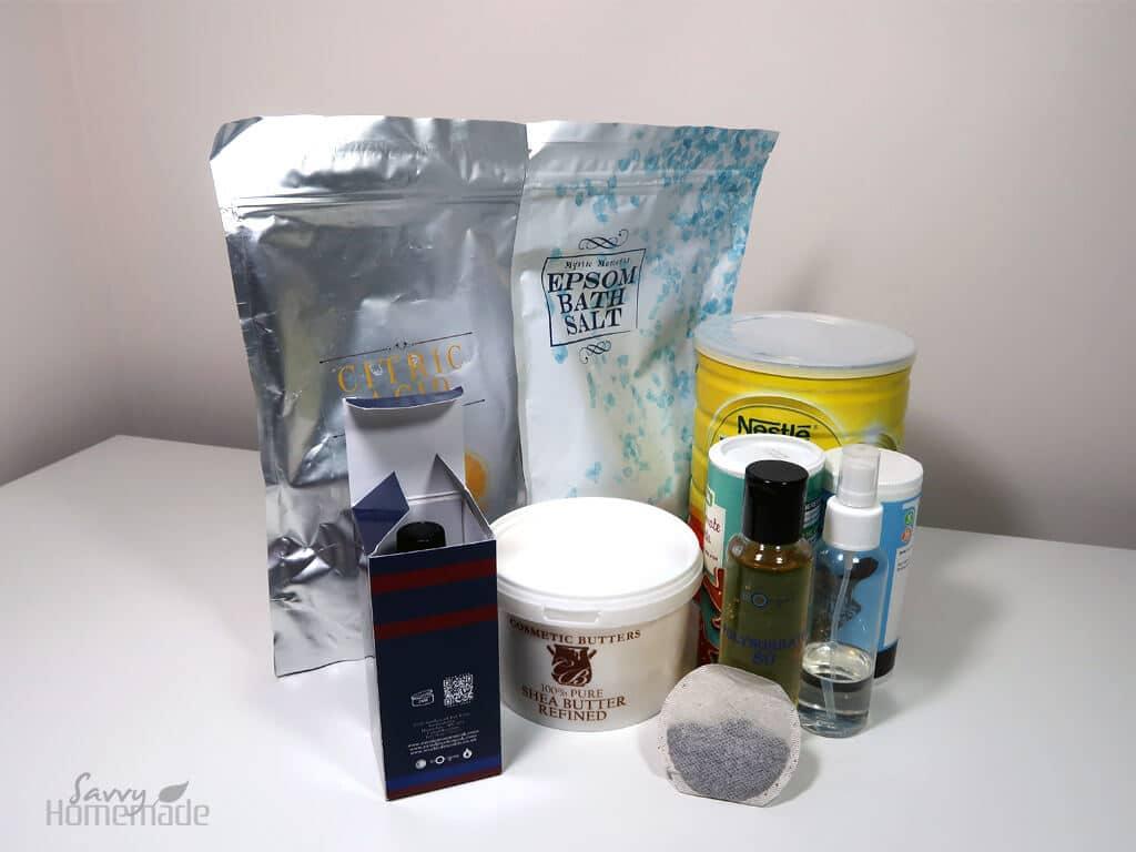 supplies for mini milk bath bombs