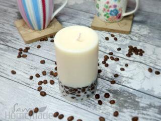 DIY coffee bean candle