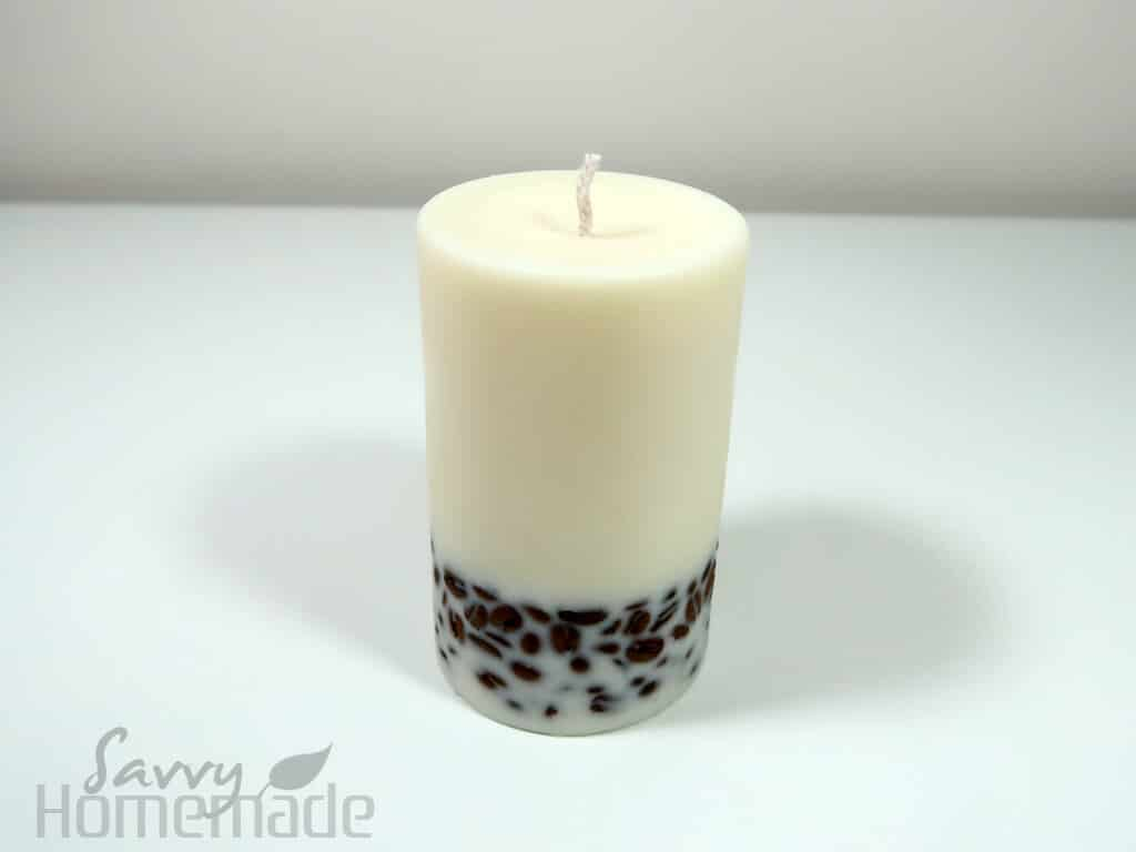 how to make diy coffee bean candle step 11b: Leave for 24 hours and then burn