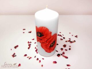 diy decoupage candles