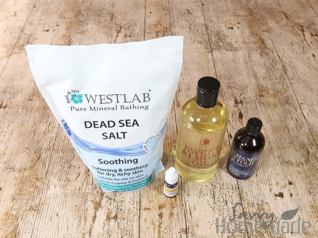 supplies for homemade bath salts