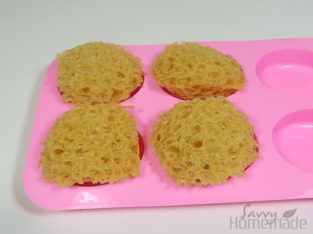 Step 2b: You can check against your mold to ensure your sponges are of a good size