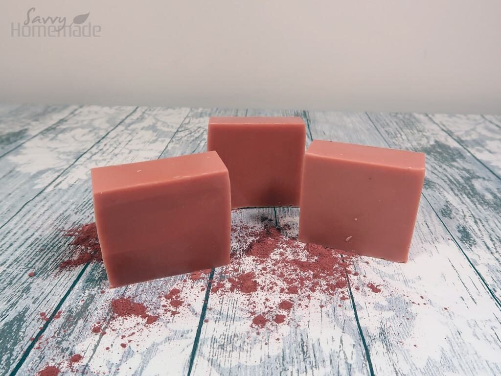 pretty French pink clay soap