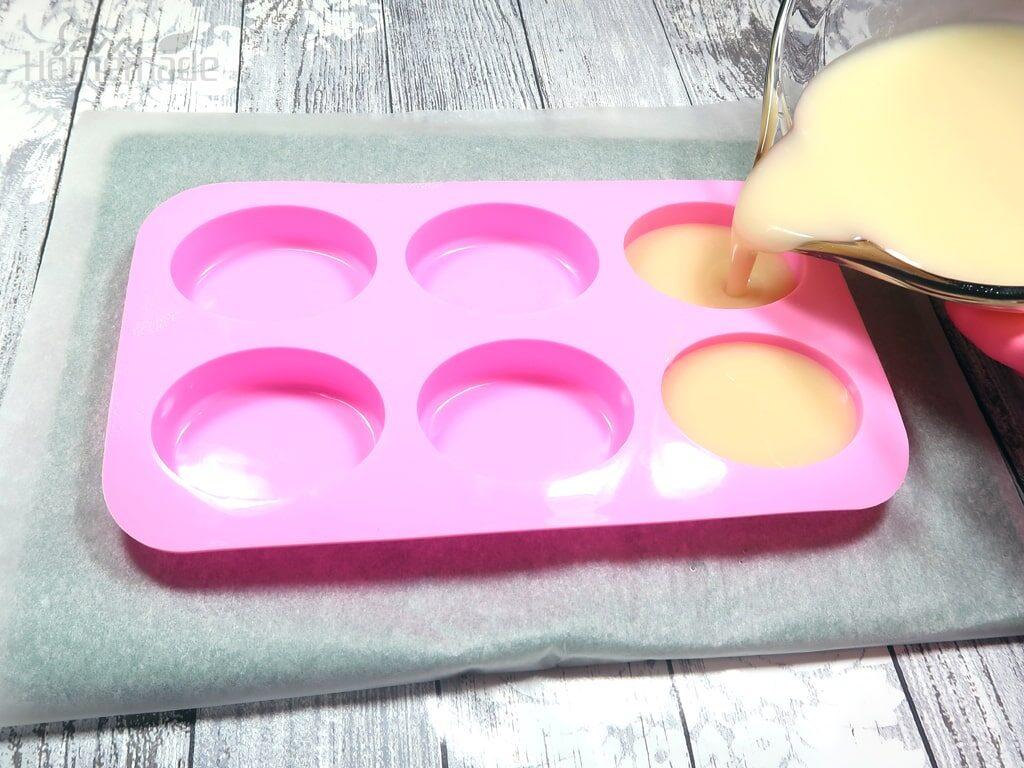 Pour soap batter into your mold