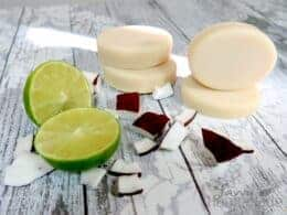 my best lime and coconut milk soap