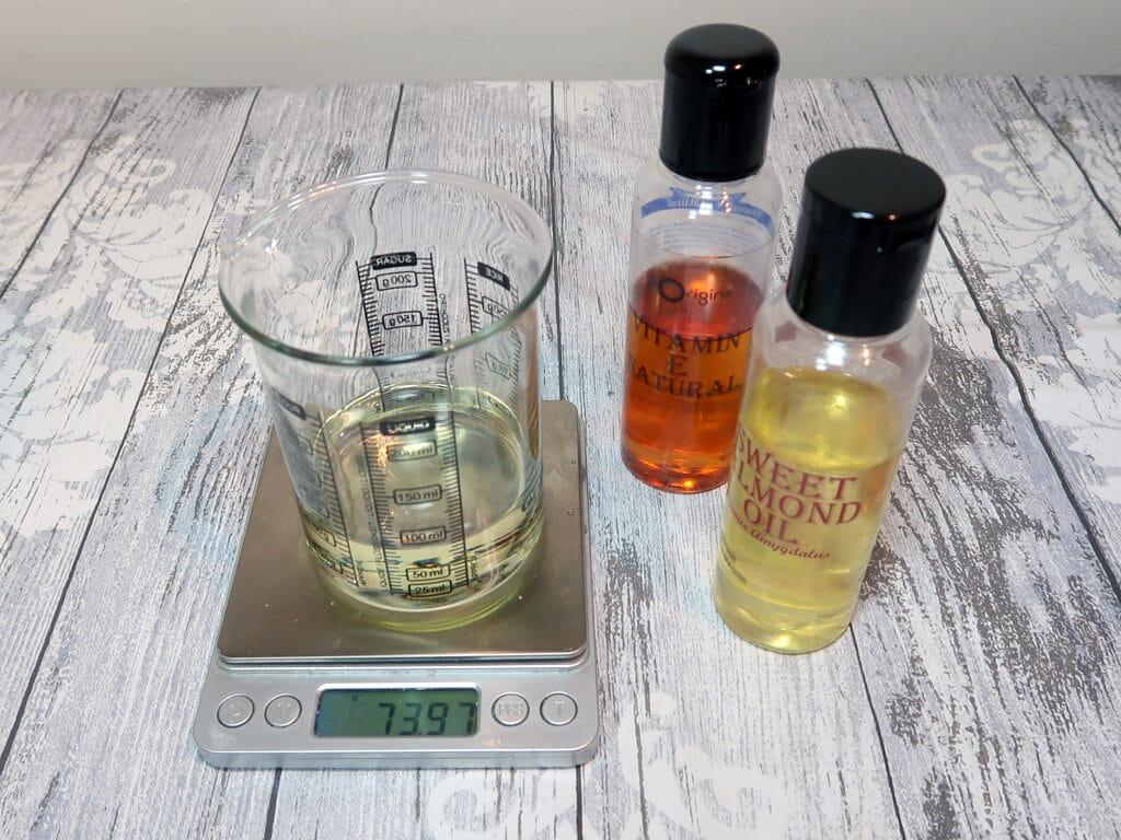 Combine your oil part ingredients