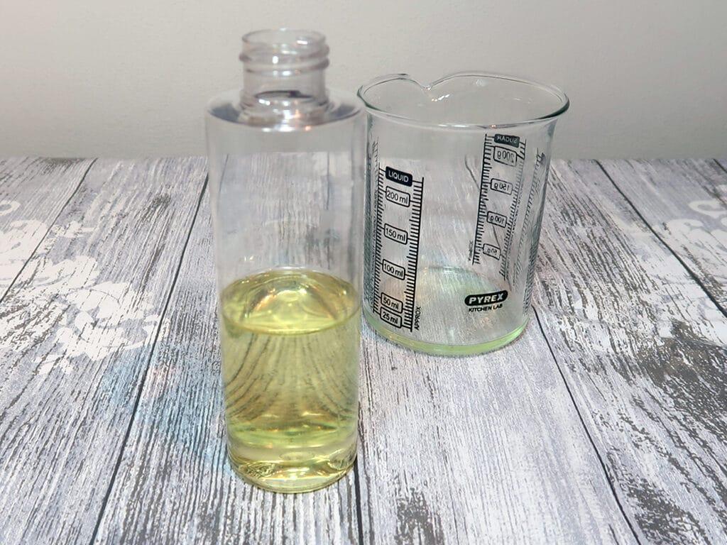 Pour your oil part into your bottle