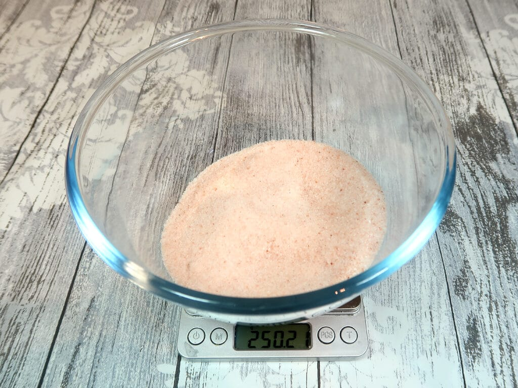 step 1: weigh your salt