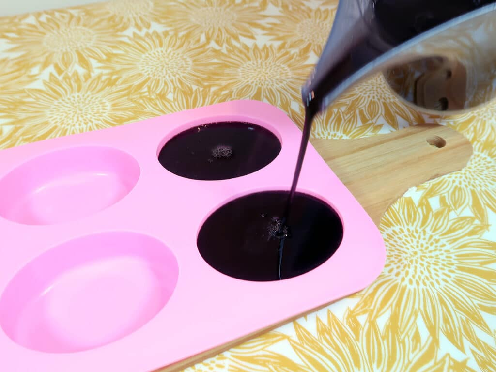 Step 6: Pour your mixture into your molds