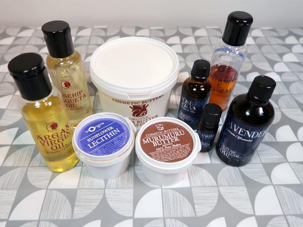 supplies for diy stretch mark cream