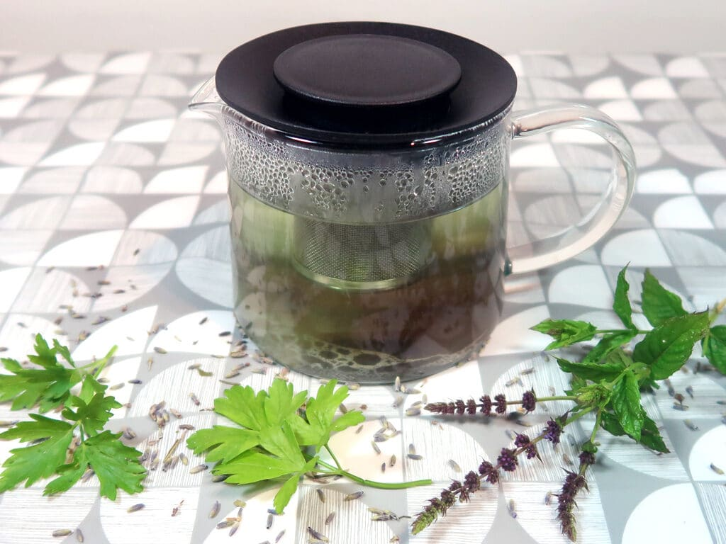 Homemade herbal infusion