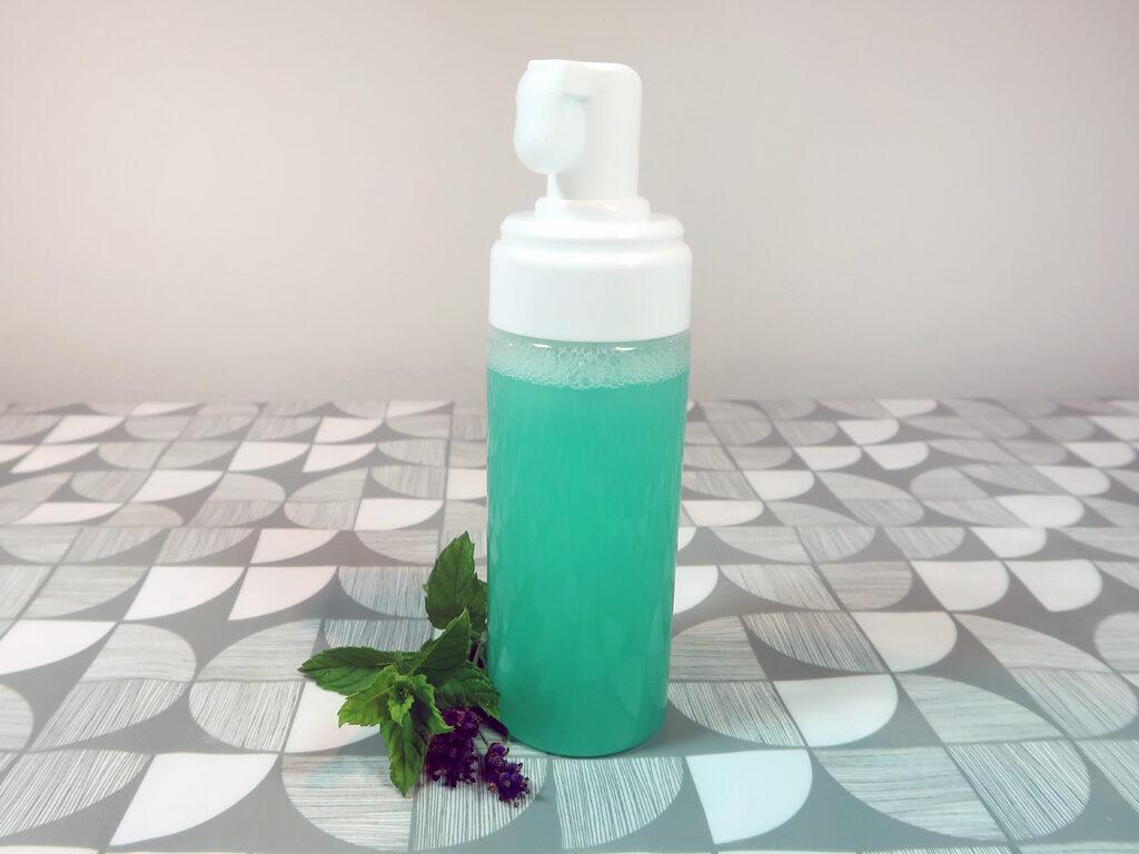 Minty diy foaming hand soap