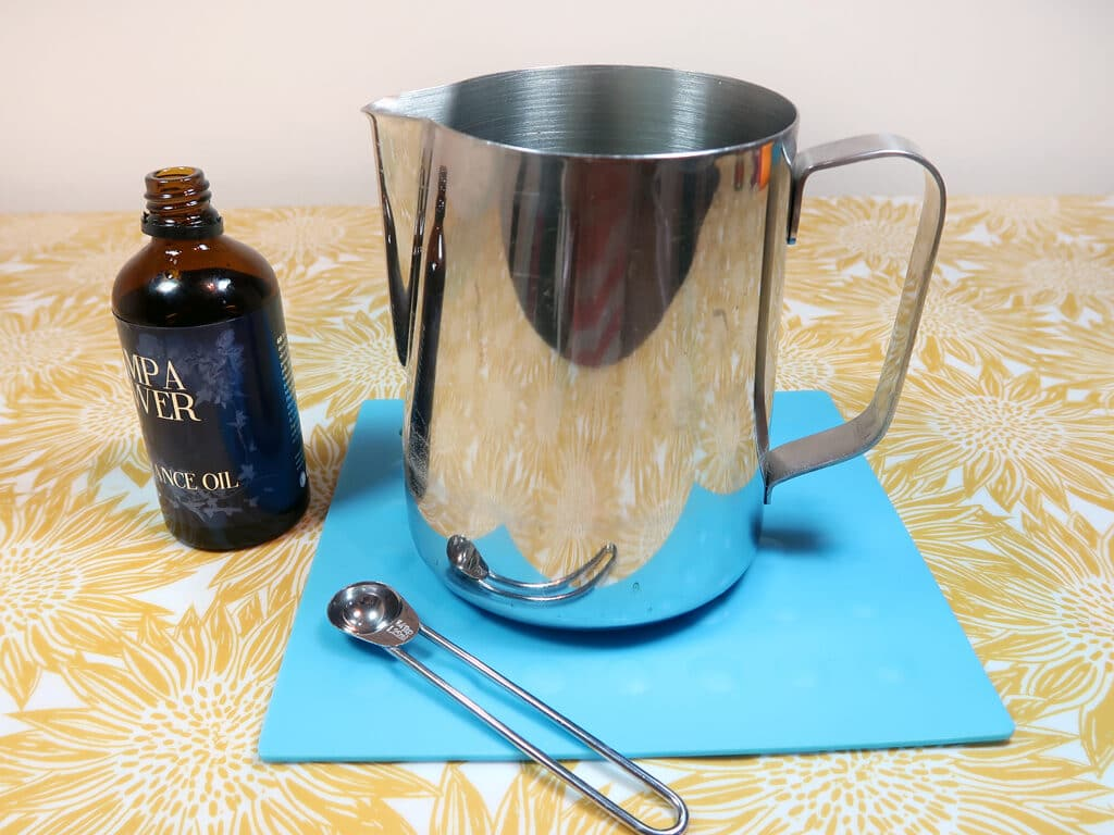 Step 7: Melt your soy wax and add your fragrance